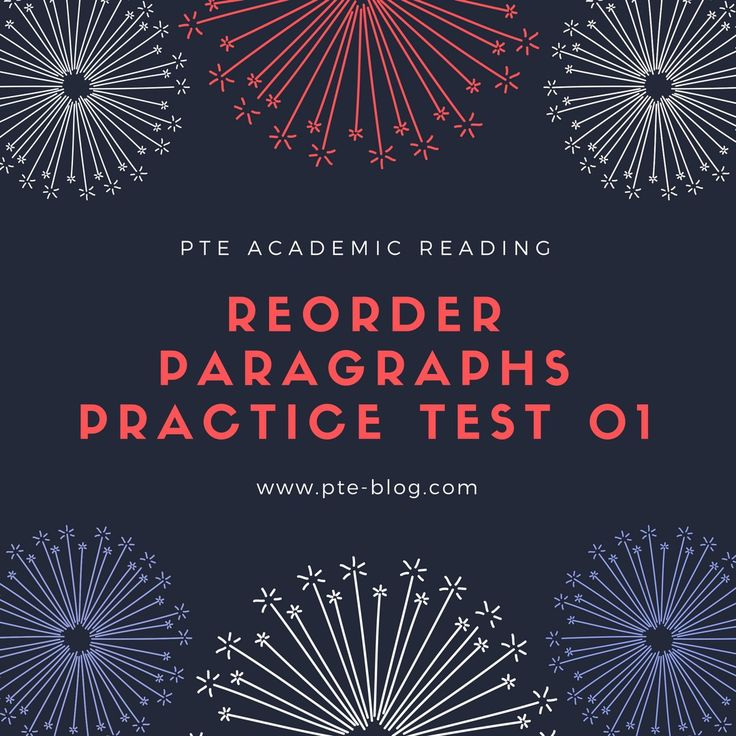 PTE Academic Reading: Reorder Paragraphs Practice Test 01