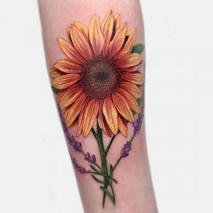 Tattoo artist Janice Bao Bao | Toronto, Canada | Sunflower tattoo sleeve, Sunflower tattoo, Sunflower tattoo shoulder