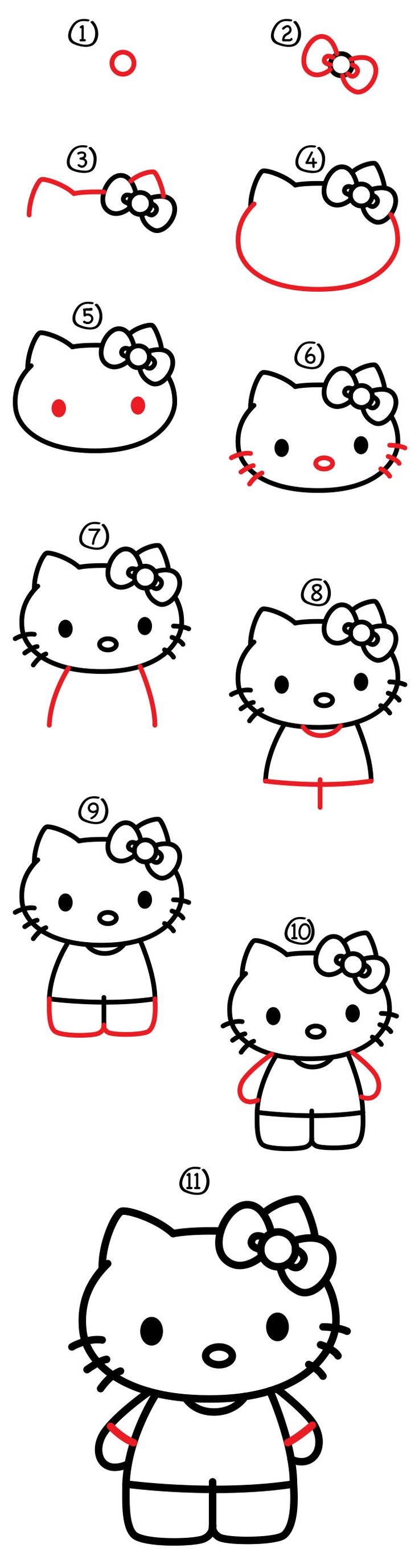 Follow along with us and learn how to draw Hello Kitty. Also be sure to visit the official Hello Kitty website and draw the other characters!