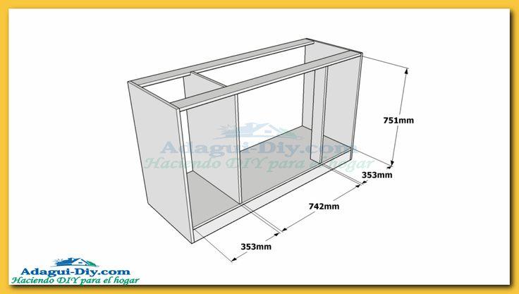 M s de 25 ideas fant sticas sobre muebles bajo mesada en for Planos de bajo mesada