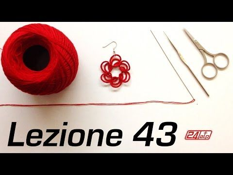 Chiacchierino Ad Ago 43˚ Lezione Orecchini Tecnica Ankars How To Tutorial Needle Tatting Earrings - YouTube