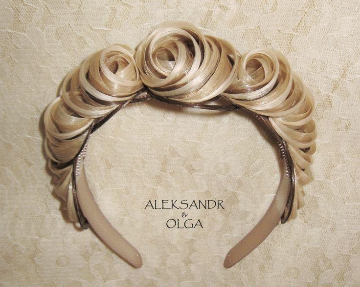 Украшение - ОБОДОК для Волос - постиж, мелирование (из натуральных волос) http://www.aleksandr-and-olga.ru/ http://www.livemaster.ru/hair-jewellery