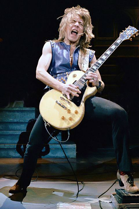 "Randy Rhoads probably playing the great lead in ""Crazy Train"" using his hybrid classical/pentatonic major scale."