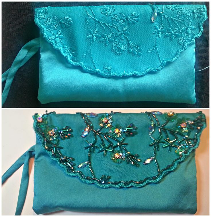 Cartera de fiesta bordada a mano Handmade Embroidery Clutch