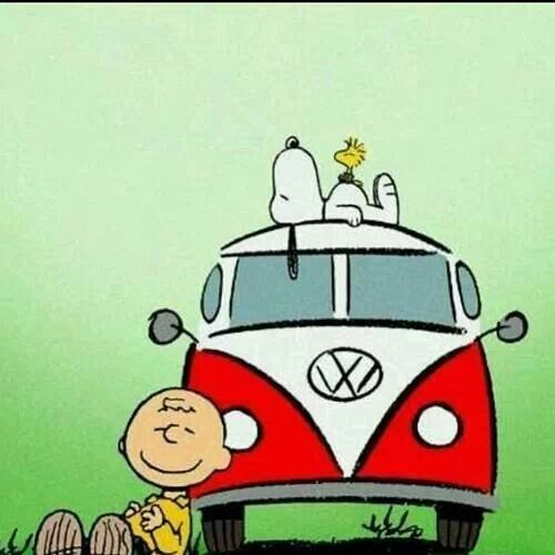 Is there a better picture in the whole world? I don't think so. Peanuts and VW, all is well in the world.