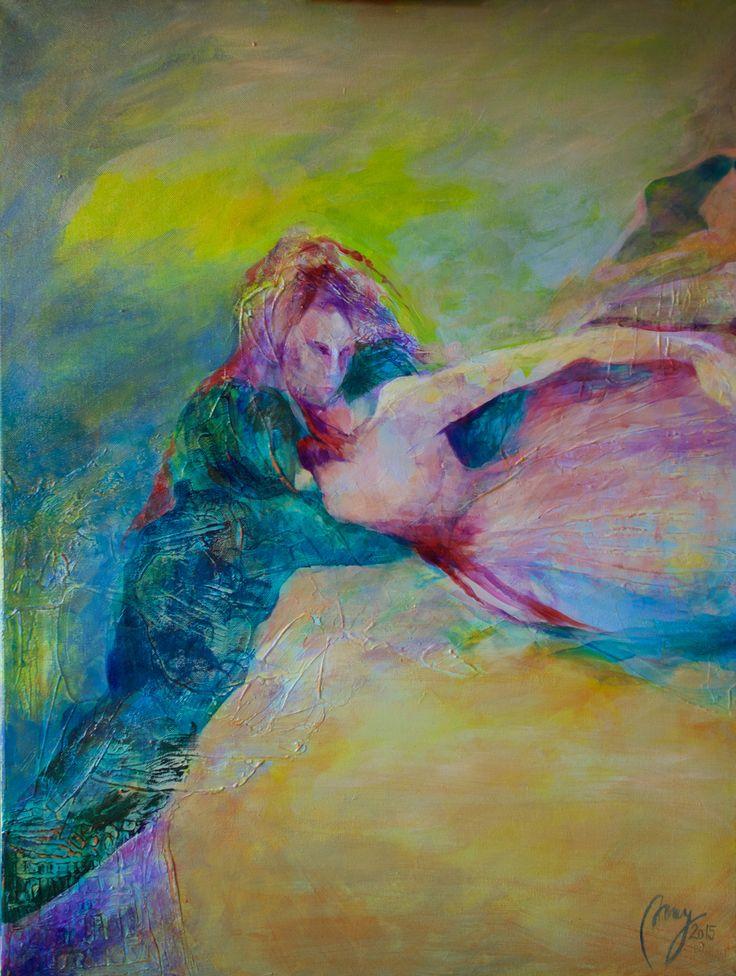 """Love"", 2015, 80x60 cm, akryl/lerret"