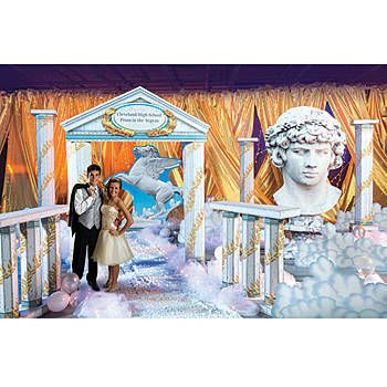Enjoy the view from Olympus with our Ancient Greece Kit. This kit includes a personalized arch along with other props to turn your event into a Greek Empire.