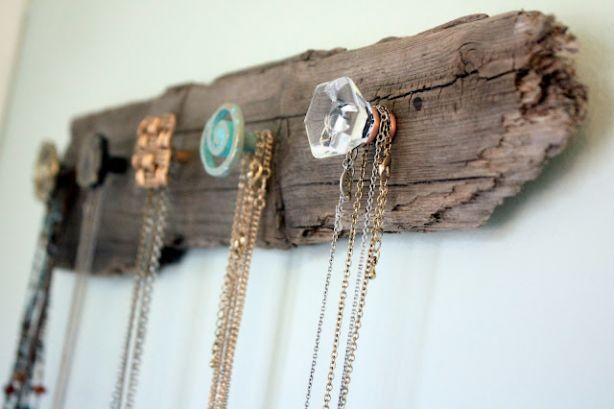 Ideeën voor het ophangen van sieraden.