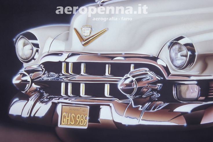 Airbrush illustration auto d'epoca, aerografia