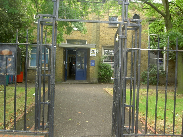 The school's 'verboten' front entrance just before the building was demolished. Only staff, prefects, parents and visitors were allowed in through this entrance to Dalston County Secondary Grammar School for Girls Shacklewell