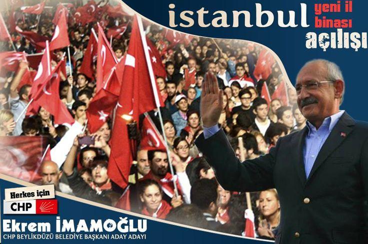 Değerli yol arkadaşlarım;  İstanbul ve Beylikdüzü'nün CHP iktidarına kavuşacağı 2014 Yerel Seçimleri için startı veriyoruz. AMAÇ; 2014'TE İSTANBUL'DA İKTİDAR, BEYLİKDÜZÜ'NDE İKTİDAR!  29 Aralık Pazar günü, il başkanlığı binamızın açılışına katılacak olan Genel Başkanımız Sayın Kemal Kılıçdaroğlu'nu büyük bir coşkuyla Atatürk Havalimanı'nda karşılıyoruz. İktidar ateşini yakacağımız bu önemli güne coşkulu katılımınızı bekliyoruz.