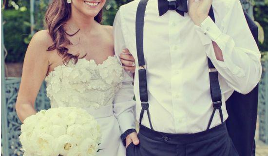 Sposo con le bretelle