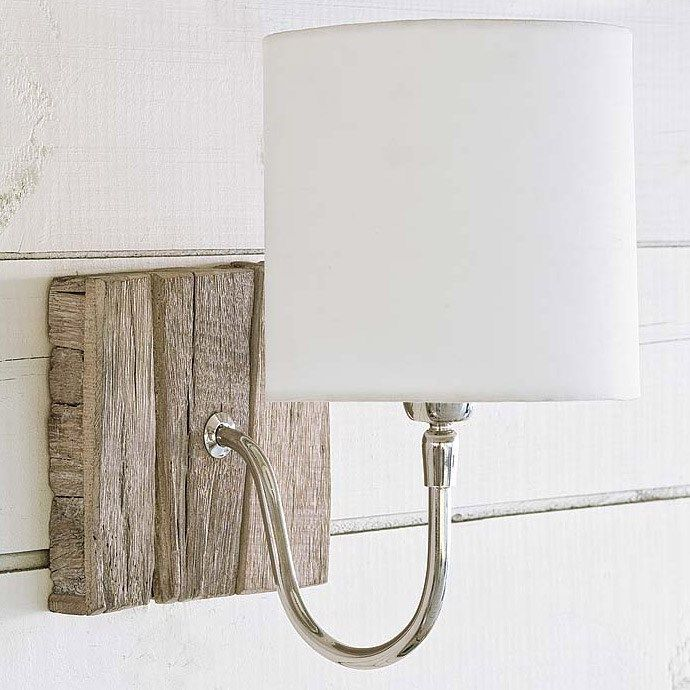 Regina Andrew Reclaimed Wood Bent Arm Pinup Sconce $110, loving this for the white bathroom (also thinking of that floor tile)