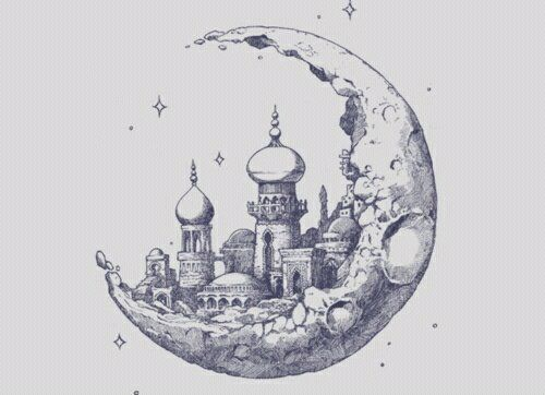 """Moon City...?"" by x9lizzy9x on deviantART. Awesome idea for a tattoo."