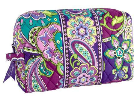 Large Cosmetic | Vera Bradley -probably a different pattern an definitely a monogram