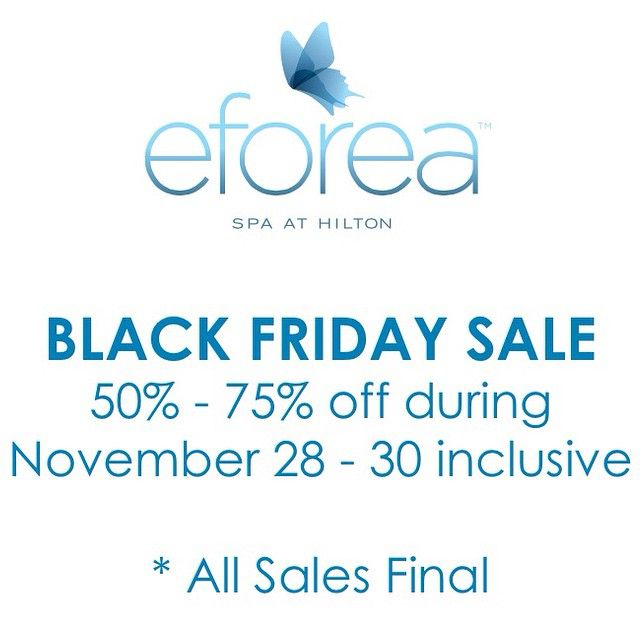 Only one more day until our #BlackFridaySale at #eforea ! Stop by November 28-30th for discounts up to 75% off retail products including #JaneIredale #makeup #KerstinFlorian #skincare #spaproducts #Babor and more! #blackfridaysale #blackfriday #blackfridayspa #eforeamarkham #spasale