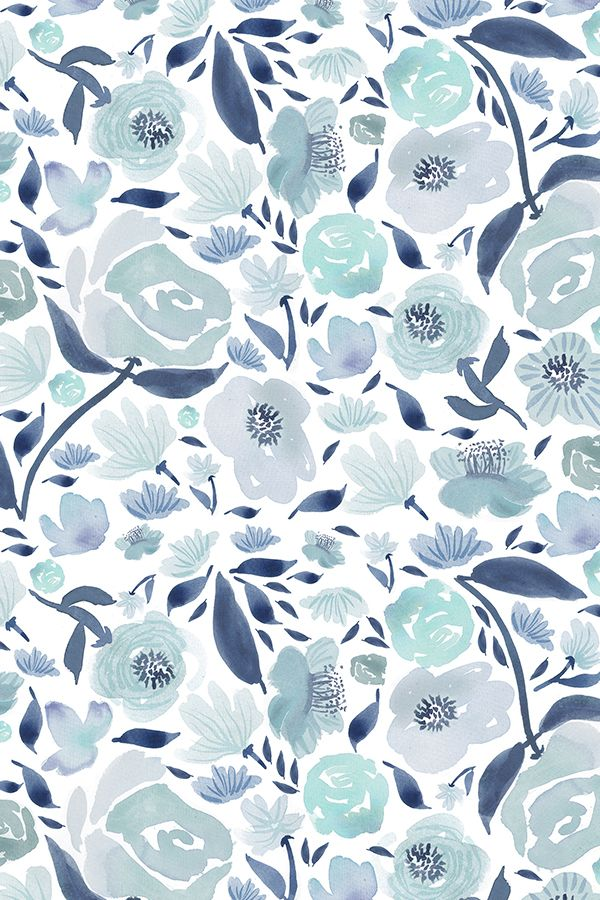 Navy Blue And Gold Glitter Floral Clipart Vintage Watercolor