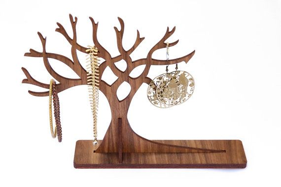 Large sized Wooden Jewellery Display Tree | Wooden Jewelry Stand | Jewellery…