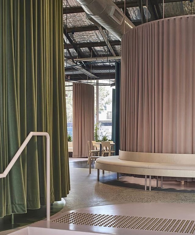 fluid curtained spaces define the office drapery office rh pinterest com