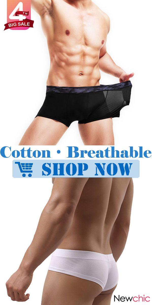 1f03bc74f1d1 【Big Sale】Breathable Ice Silk Cotton Mesh Thin Men Boxer Briefs Collection.  #mens #boxer #menswear