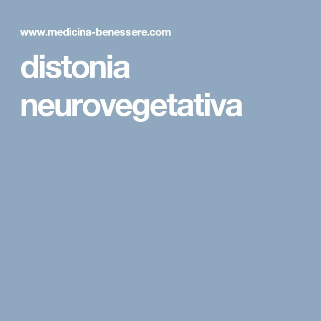 distonia neurovegetativa