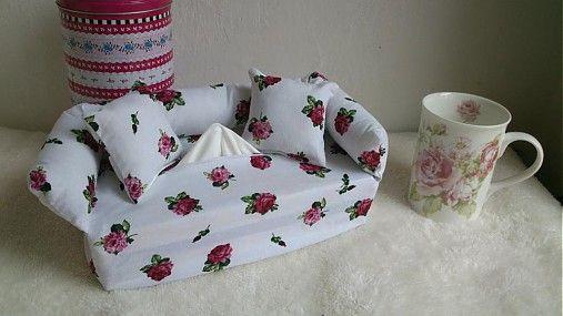 Wesega / Mini ružičky dekoračný obal na papierové vreckovky
