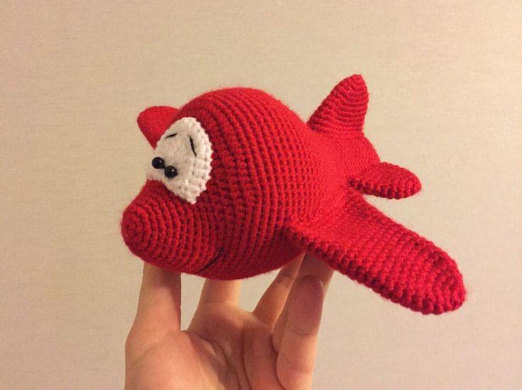 Padrão de crochê de avião Amigurumi