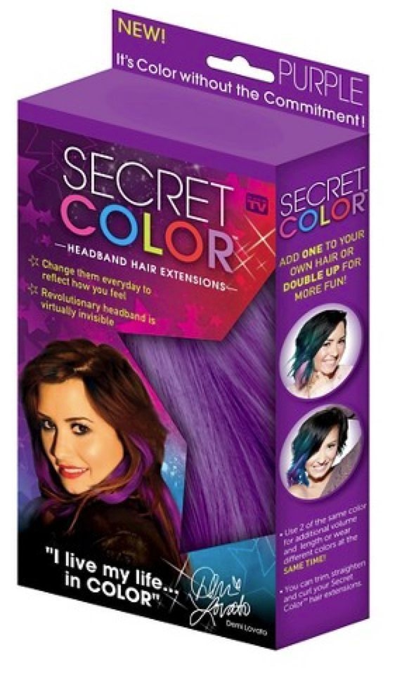 secret color headband hair extensions as seen on tv color purple and red #AsseenonTV #hairExtension