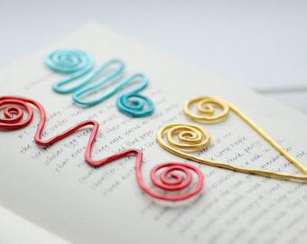Set of Bookmarks Wire Bookmarks Colorful by WildWomanJewelry