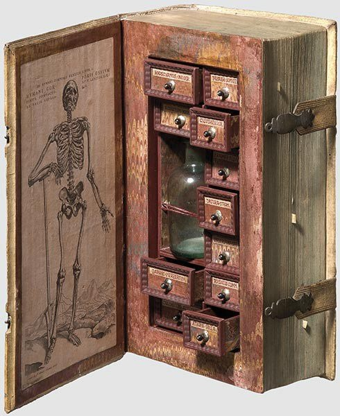 A poison case, made from a book safe.  I *will* make one of these one day. For funzies.