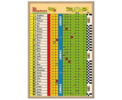 Motivationstafel - Das Smiley-Rennen. Schülern wird auf spielerische Art vermittelt, auf Hausaufgaben und Klassenregeln zu achten #Betzold #Motivationstafel #Smiley #Schule #Unterricht #Schulorganisation #Lehrer #Grundschule #Organisation