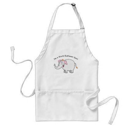 White Elephant Exchange Cartoon Adult Apron - kitchen gifts diy ideas decor special unique individual customized
