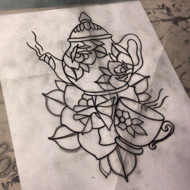teapot tattoo simple - Google Search