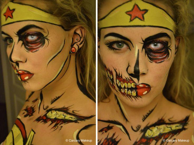Halloween Look 4 - Pop Art Wonder Woman / Zombie (Sara Carcary Makeup)