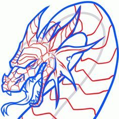 How to Draw a Dragon Head, Step by Step, Dragons, Draw a Dragon, Fantasy, FREE Online Drawing Tutorial, Added by Dawn, August 31, 2013, 11:34:12 pm
