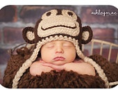 Sock Monkey Hat CROCHET PATTERN in 5 different sizes for boys and girls PDF 2
