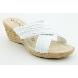 @Overstock - Brand & Style - Patrizia By Spring Step Marge; Width - Medium (B, M); True Color - White; Upper Material - Synthetic; Outsole Material - Man-Made ; Heel Height - 2.25 Incheshttp://www.overstock.com/Clothing-Shoes/Patrizia-By-Spring-Step-Womens-Marge-Whites-Sandals/6685464/product.html?CID=214117 $29.99