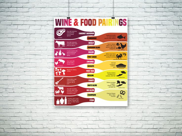 Food and wine pairing infographic and tips.