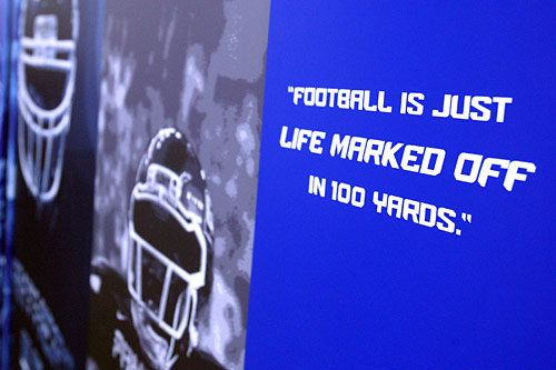 One of Georgia State University football coach Bill Curry's favorite quotes.