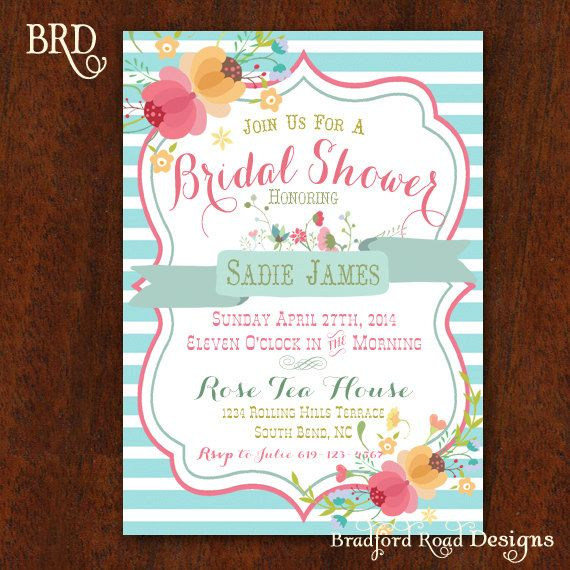 Welcome to Bradford Road Designs!    Its a Bridal Shower!    This beautiful Bridal Shower invitations are perfect for your Bridal Shower,