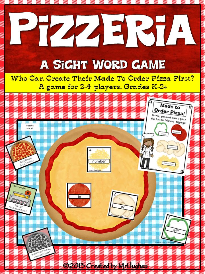Sight Word Games Pizzeria Pizza Student And The O Jays