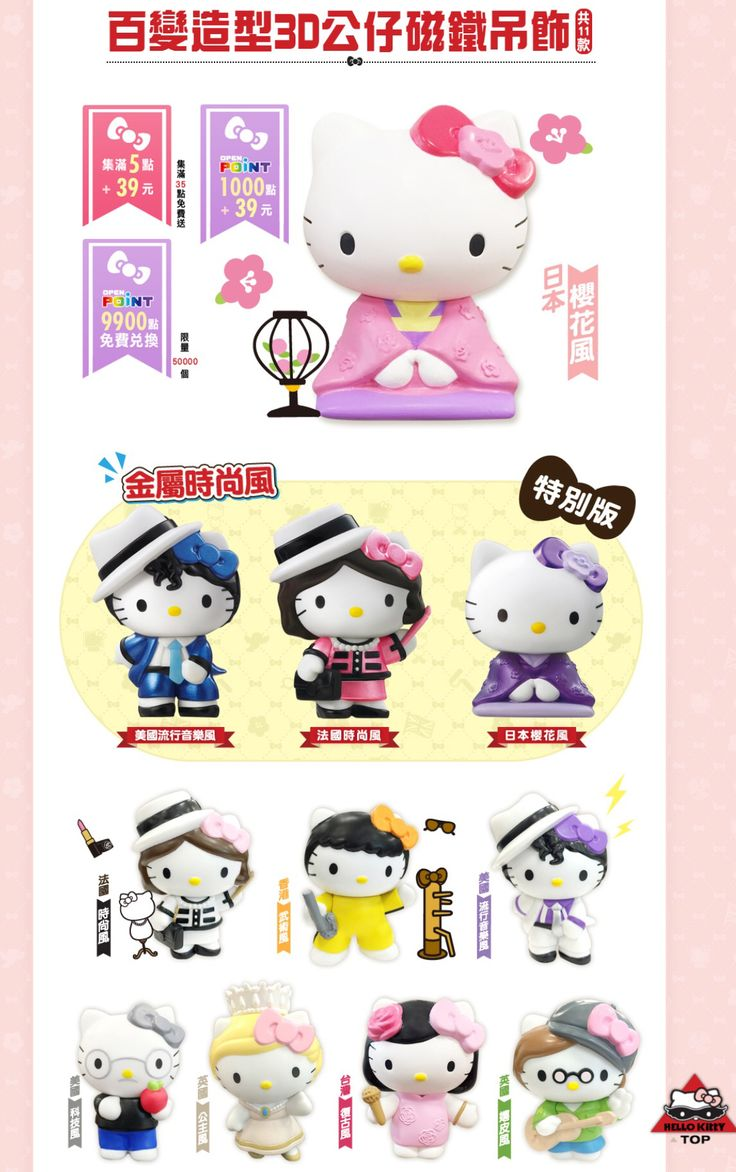 Exclusive Hello Kitty figurines by 7-11 Taiwan (^_−)−☆