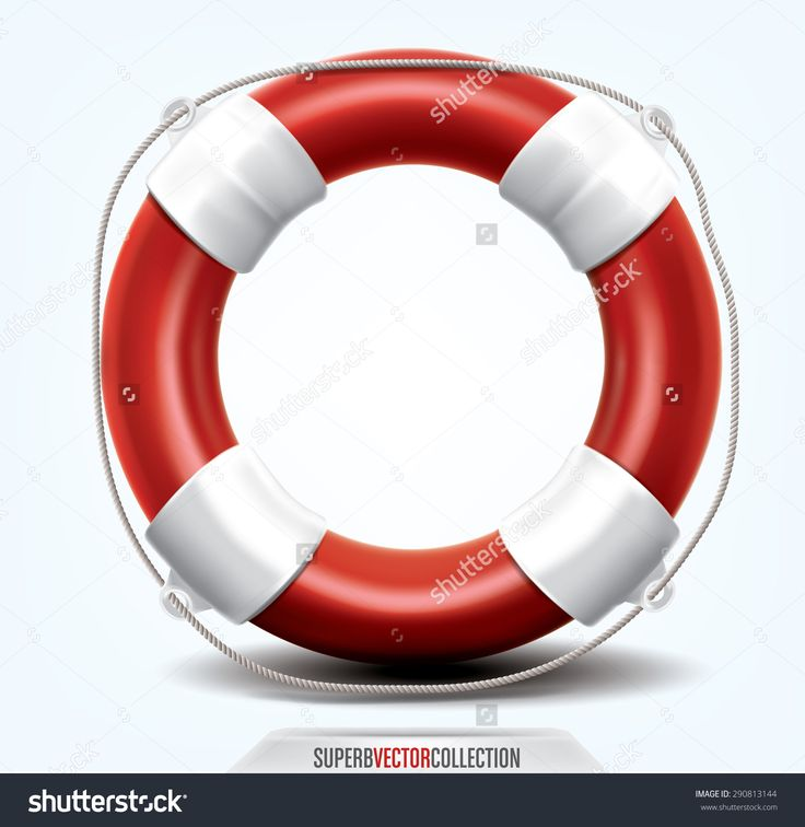 Life Buoy Isolated On White. High Quality, Detailed Vector Illustration - 290813144 : Shutterstock