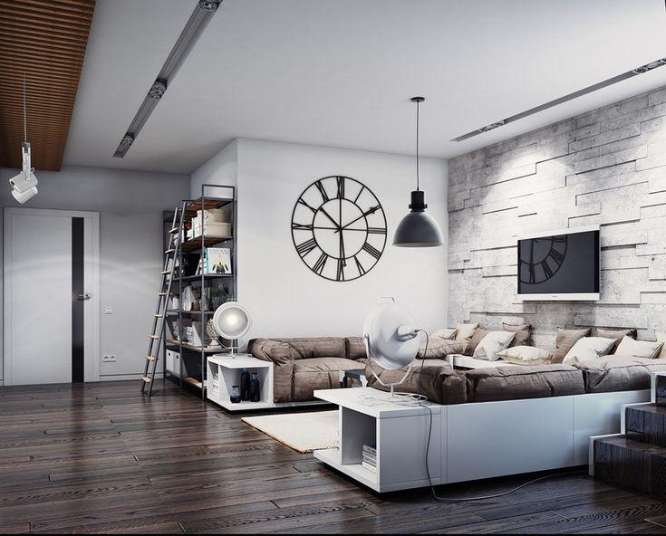 Фотография: Гостиная в стиле Лофт, Современный, Декор интерьера, Квартира…
