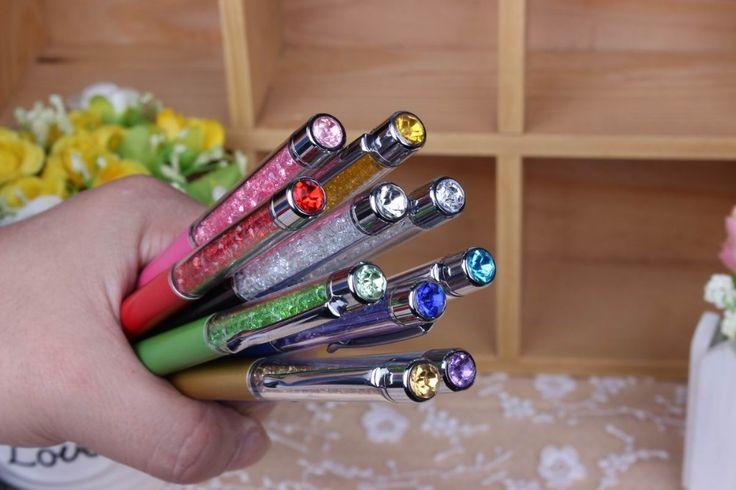 1 stks/partij Nieuwe Promotie Gift Balpen met Top bling Diamond Crystal Metal gift pen