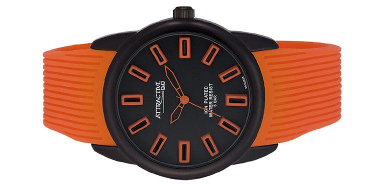 Ανδρικό Ρολόι qq Attractive DB10J532Y,Μεταλλική Κάσα Διαμέτρου:43mm,Αδιάβροχο:5 ATM,Λουρί:Σιλικόνης πορτοκαλί,Εγγύηση:2 έτη,Μηχανισμός:Quartz ακριβείας.