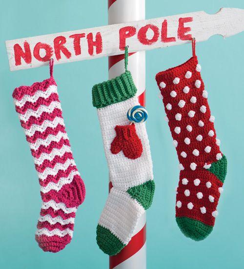 Free Crochet Jolly Stockings Pattern   crochet today