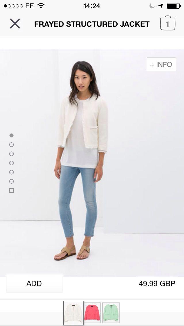 Zara cropped blazer