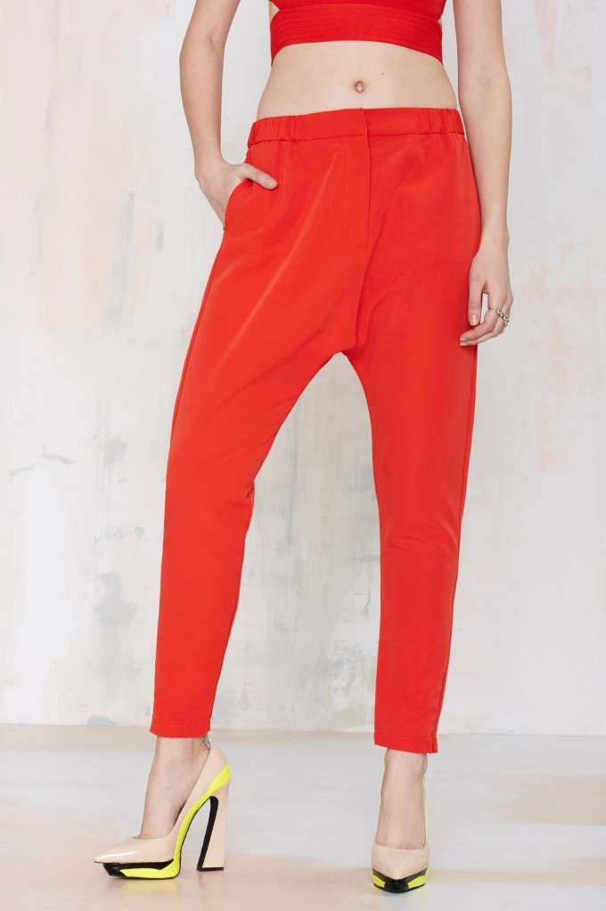 Cameo West Coast Trouser - Red | Shop Clothes at Nasty Gal!