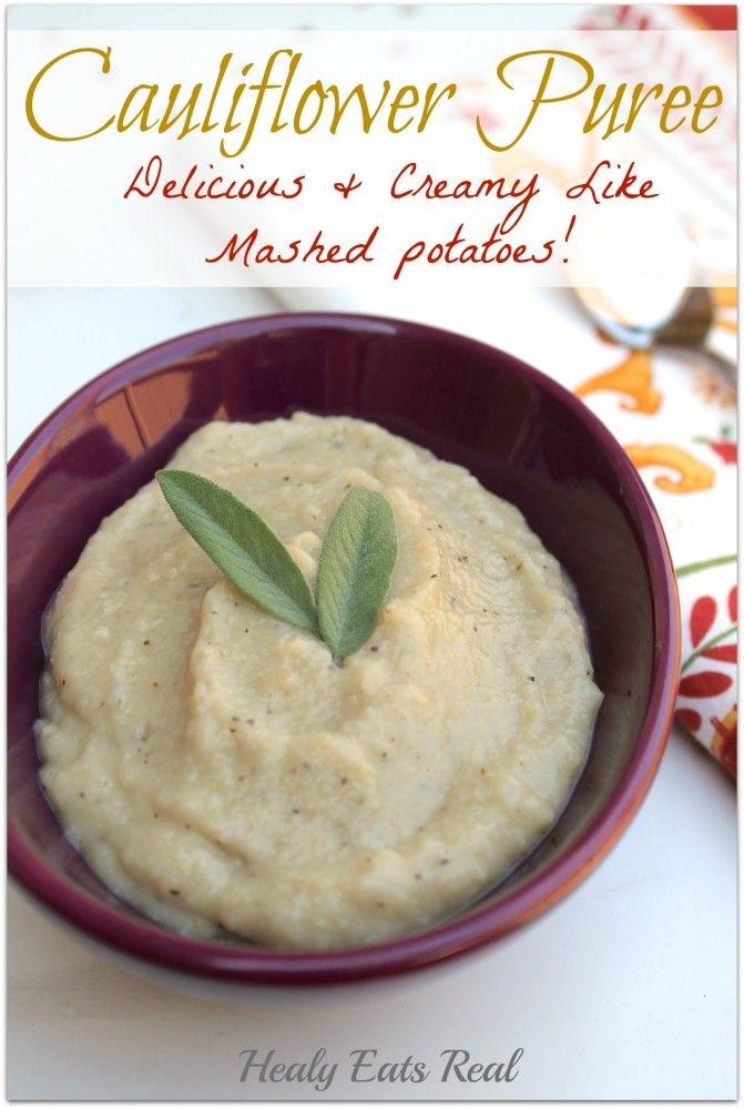 Cauliflower Puree (paleo & vegan) | Recipe | Cauliflowers, Paleo and ...